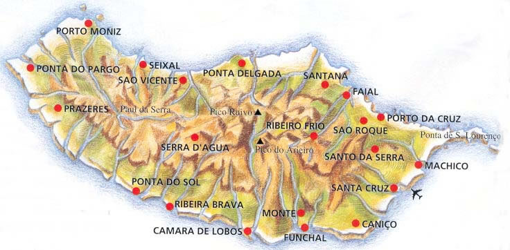 Carte Madere Portugal