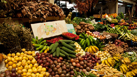 Marché Fruits Funchal Madere